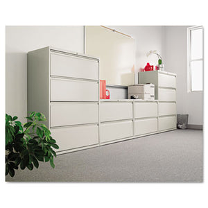 TWO-DRAWER LATERAL FILE CABINET, 42W X 18D X 28 3/8H, LIGHT GRAY