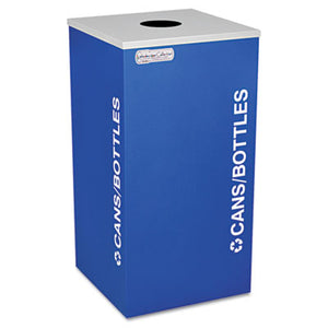 KALEIDOSCOPE COLLECTION BOTTLE/CAN-RECYCLING RECEPTACLE, 24GAL, ROYAL BLUE