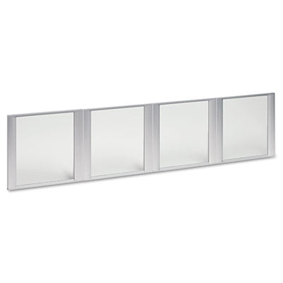 Glass Door Set With Silver Frame For 72