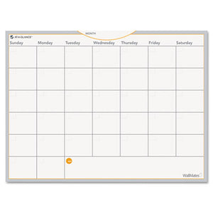 Wallmates Self-Adhesive Dry Erase Monthly Planning Surface, 24 X 18