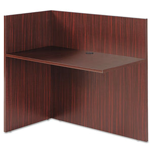 Alera Valencia Reversible Reception Return, 44w X 23 5/8d X 41 1/2h, Mahogany