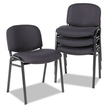 Load image into Gallery viewer, Alera Continental Series Stacking Chairs, Black Fabric Upholstery, 4/carton