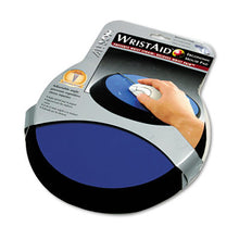 "Load image into Gallery viewer, Wrist Aid Ergonomic Circular Mouse Pad, 9"" Dia., Cobalt"