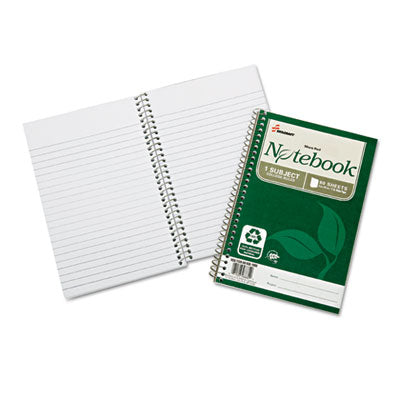 7530016002017 SKILCRAFT RECYCLED NOTEBOOK, 1 SUBJECT, MEDIUM/COLLEGE RULE, GREEN COVER, 9.5 X 6, 80 SHEETS, 3/PACK