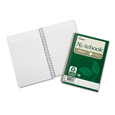 7530016002013 SKILCRAFT RECYCLED NOTEBOOK, 1 SUBJECT, MEDIUM/COLLEGE RULE, GREEN COVER, 7.5 X 5, 80 SHEETS, 6/PACK
