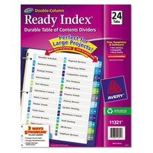 Load image into Gallery viewer, CUSTOMIZABLE TOC READY INDEX DOUBLE COLUMN MULTICOLOR DIVIDERS, 24-TAB, LETTER