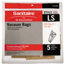 Load image into Gallery viewer, Commercial Upright Vacuum Cleaner Replacement Bags, Style Ls, 5/pack, 10 Pk/ct