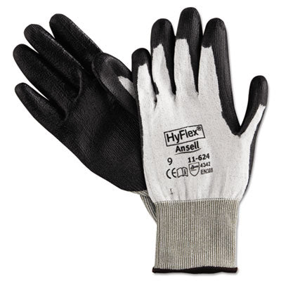 Hyflex Dyneema Cut-Protection Gloves, Gray, Size 9, 12 Pairs