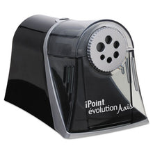 Load image into Gallery viewer, IPOINT EVOLUTION AXIS PENCIL SHARPENER, BLACK/SILVER, 5W X 7 1/2 D X 7 1/4H