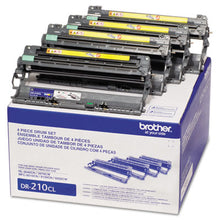Load image into Gallery viewer, DR210CL DRUM UNIT, 15000 PAGE-YIELD, BLACK/CYAN/MAGENTA/YELLOW