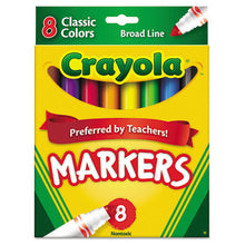 Load image into Gallery viewer, NON-WASHABLE MARKER, BROAD BULLET TIP, ASSORTED COLORS, 8/PACK