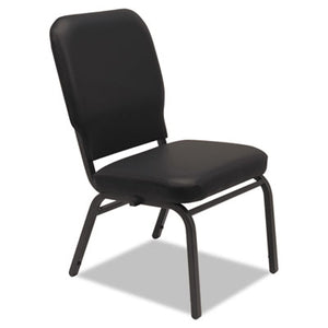 Oversize Stack Chair, Black Antimicrobial Vinyl Upholstery, 2/carton