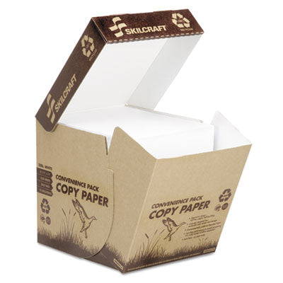 7530016110277 SKILCRAFT RECYCLED COPY PAPER, 92 BRIGHT, 20LB, 8.5 X 11, WHITE, 2,500/CARTON