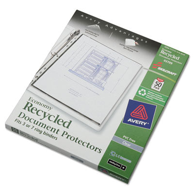 7510016169670 SKILCRAFT DOCUMENT PROTECTOR, 8 1/2 X 11, 7-HOLE PUNCH
