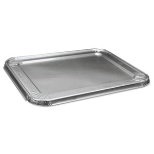 HALF SIZE ALUMINUM STEAM TABLE PAN LID, DEEP, 100/CARTON