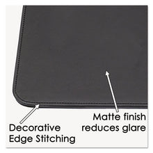 Load image into Gallery viewer, Sagamore Desk Pad W/decorative Stitching, 36 X 20, Black