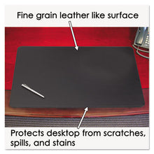 Load image into Gallery viewer, Sagamore Desk Pad W/decorative Stitching, 38 X 24, Black
