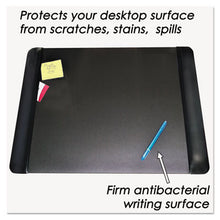 Load image into Gallery viewer, Executive Desk Pad With Leather-Like Side Panels, 24 X 19, Black