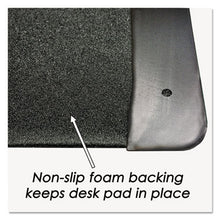 Load image into Gallery viewer, Executive Desk Pad With Leather-Like Side Panels, 36 X 20, Black
