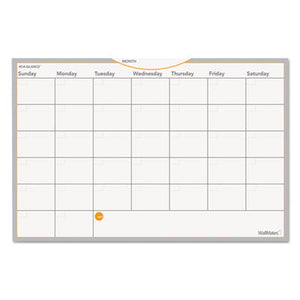 Wallmates Self-Adhesive Dry Erase Monthly Planning Surface, 18 X 12