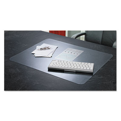 Krystalview Desk Pad With Microban, 24 X 19, Matte, Clear