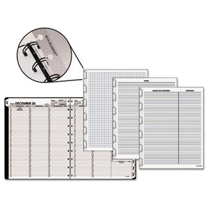 MOVE-A-PAGE WEEKLY/MONTHLY APPOINTMENT BOOK, 8 3/4 X 11, WHITE, 2019