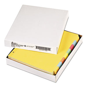 WRITE & ERASE PLAIN-TAB PAPER DIVIDERS, 8-TAB, LETTER, MULTICOLOR, 24 SETS