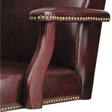 Load image into Gallery viewer, Alera Traditional Series Mid-Back Chair, Mahogany Finish/oxblood Vinyl