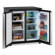Load image into Gallery viewer, 5.5 Cf Side By Side Refrigerator/freezer, Black/stainless Steel