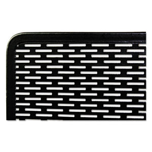 Urban Collection Punched Metal Letter Tray, Black