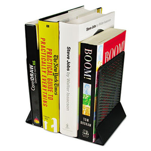 Urban Collection Punched Metal Bookends, 6 1/2 X 6 1/2 X 5 1/2, Black