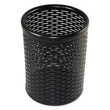 Load image into Gallery viewer, Urban Collection Punched Metal Pencil Cup, 3 1/2 X 4 1/2, Black
