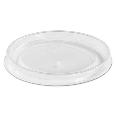 High Heat Vented Plastic Lids, Fits All Sizes: 6-16 Oz, Translucent, 50/bag