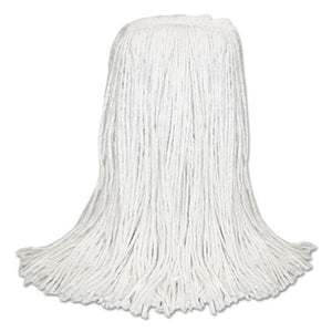 "Banded Rayon Cut-End Mop Heads, White, 24 Oz, 1 1/4"" Headband, 12/carton"
