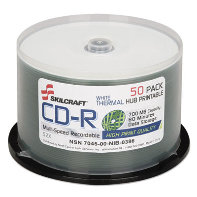 7045016269521, CD-R RECORDABLE DISC, 700M/80 MIN, 52X, SPINDLE