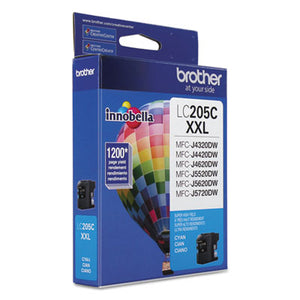 LC205C INNOBELLA SUPER HIGH-YIELD INK, 1200 PAGE-YIELD, CYAN