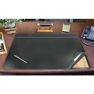 Hide-Away Pvc Desk Pad, 24 X 19, Black