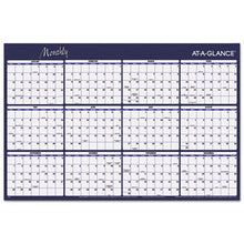 Load image into Gallery viewer, REVERSIBLE HORIZONTAL ERASABLE WALL PLANNER, 48 X 32, 2019