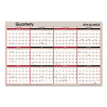 Load image into Gallery viewer, VERTICAL/HORIZONTAL ERASABLE QUARTERLY WALL PLANNER, 24 X 36, 2019