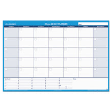 Load image into Gallery viewer, 30/60-Day Undated Horizontal Erasable Wall Planner, 48 X 32, White/blue,