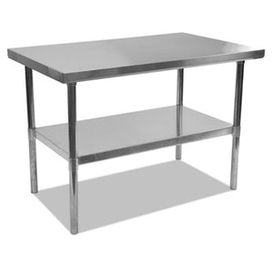 NSF APPROVED STAINLESS STEEL FOODSERVICE PREP TABLE, 48 X 30 X 35H, SILVER