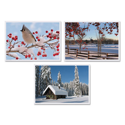 WINTER MULTI-PACK PLACEMATS, 10 X 14, THREE DIFFERENT SCENES, 1,000/CARTON