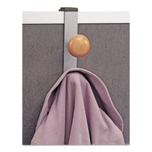 Load image into Gallery viewer, CUBICLE GARMENT PEG, 2-HOOK, 1 1/5 X 1 3/8 X 7 9/10, METALLIC GRAY