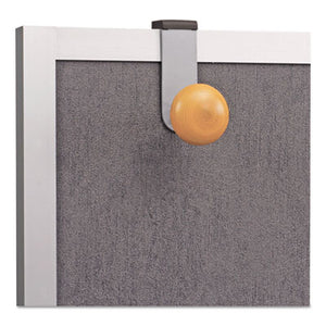 CUBICLE GARMENT PEG, 1 HOOK, 1 1/5 X 1 3/8 X 4 3/10, METALLIC GRAY