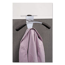 Load image into Gallery viewer, Hanger Shaped Partition Coat Hook, Silver/black, 15 X 4 1/2 X 7 7/8