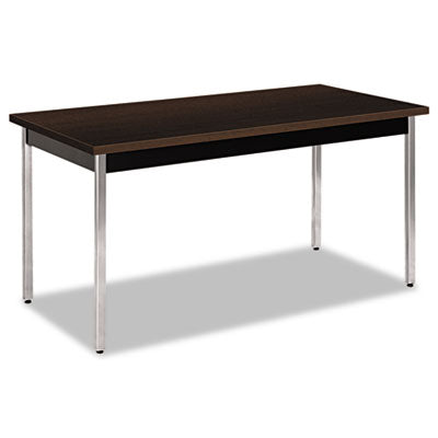 Utility Table, Rectangular, 60w X 30d X 29h, Mocha/black