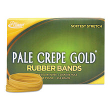 Load image into Gallery viewer, Pale Crepe Gold Rubber Bands, Sz. 32, 3 X 1/8, 1lb Box