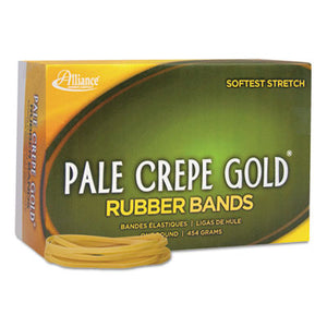 Pale Crepe Gold Rubber Bands, Sz. 33, 3-1/2 X 1/8, 1lb Box