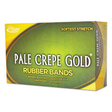 Load image into Gallery viewer, Pale Crepe Gold Rubber Bands, Sz. 117b, 7 X 1/8, 1lb Box