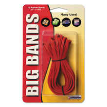 Load image into Gallery viewer, Big Bands Rubber Bands, 7 X 1/8, Red, 12/pack